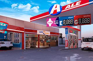 Posto para revenda de combustíveis da rede ALE